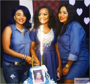 Photos: Actress Iyabo Ojo Looks Fab As She Attends Denim Themed Birthday Party